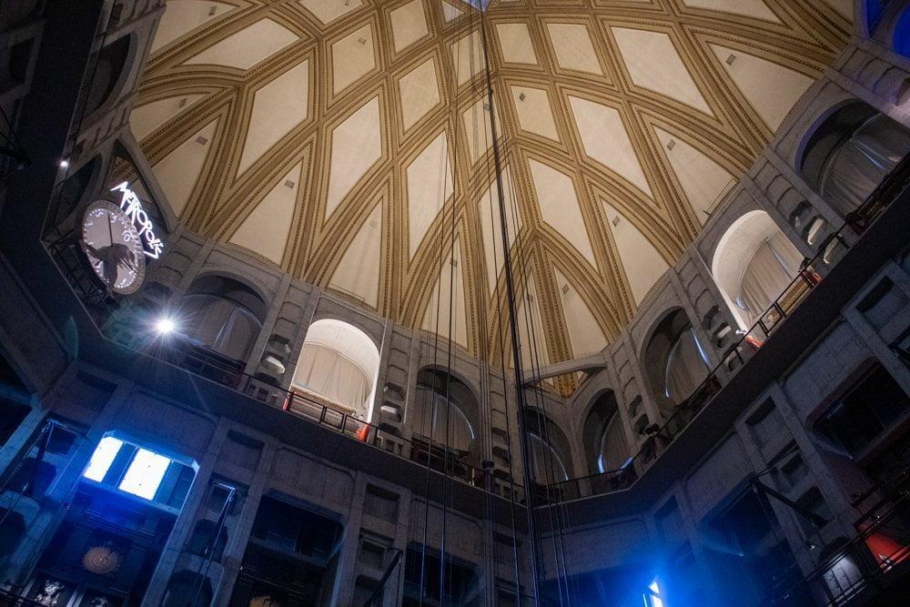Interno della cupola della Mole Antonelliana al Museo del Cinema di Torino