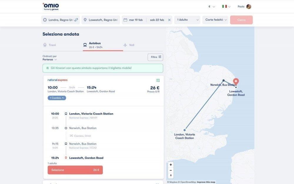 Ricerca viaggio da Londra a Lowestoft su Omio