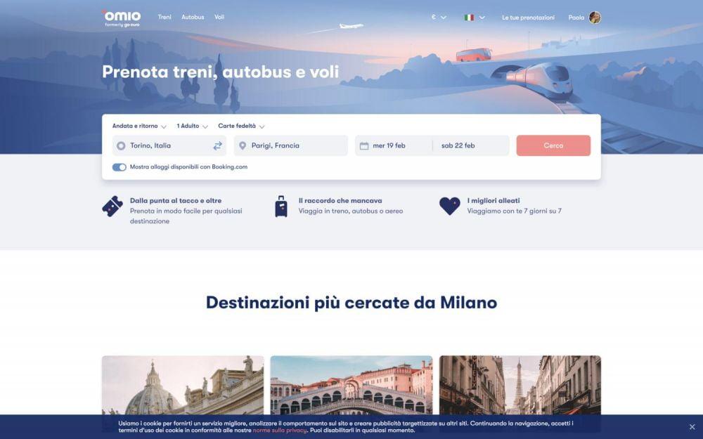 Ricerca viaggio da Torino a Parigi su Omio