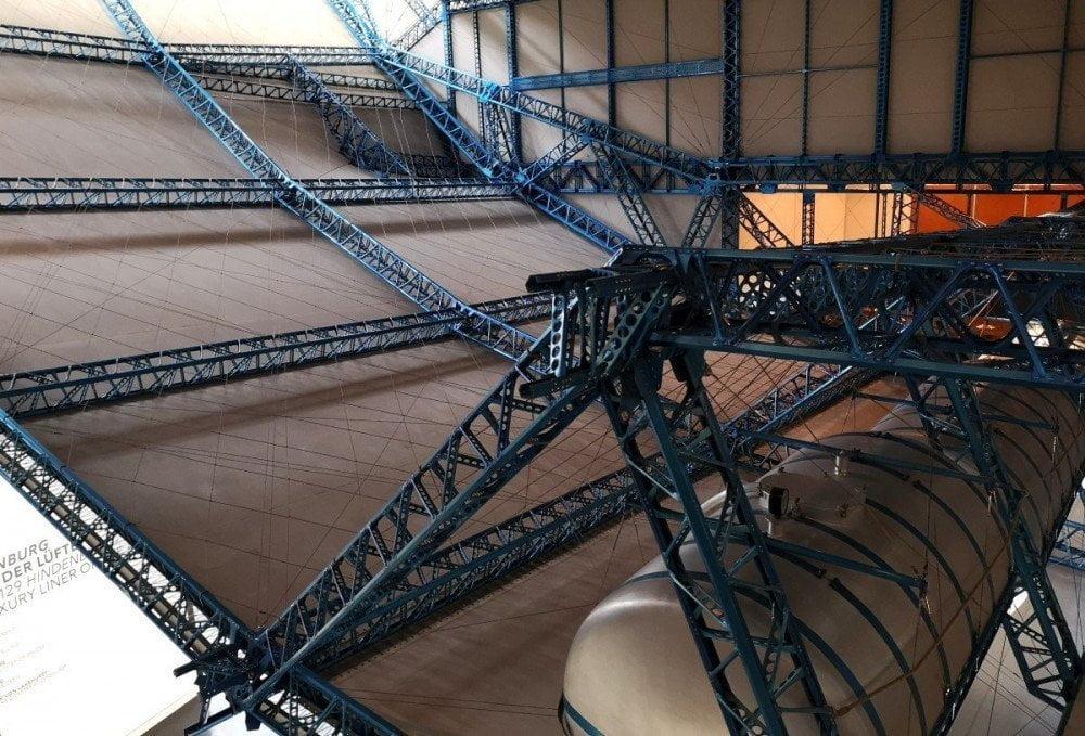 Ricostruzione del telaio di dirigibile allo Zeppelin Museum di Friedrichshaffen
