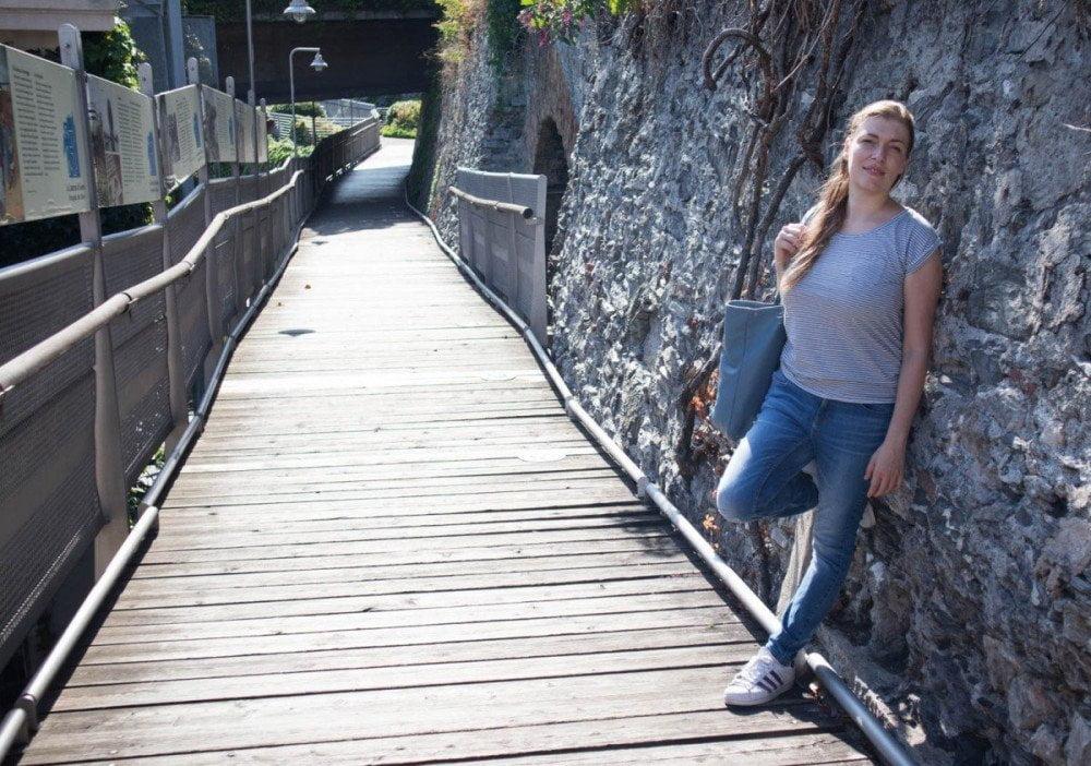 Paola Bertoni alla Passeggiata della Lanterna di Genova