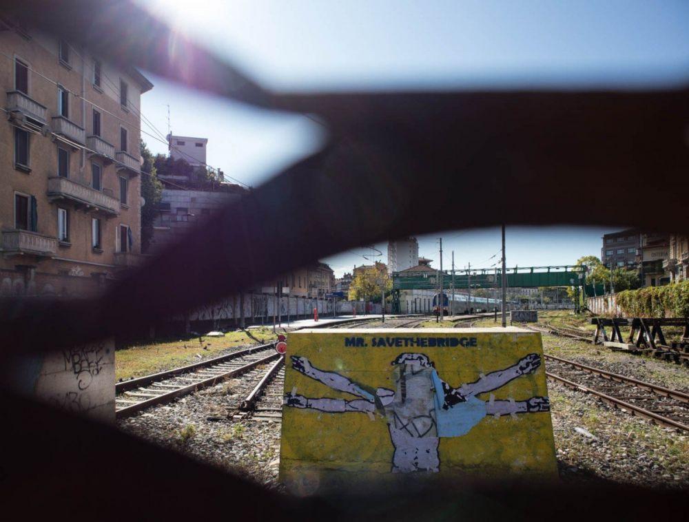 Street art alla stazione di Porta Genova a Milano