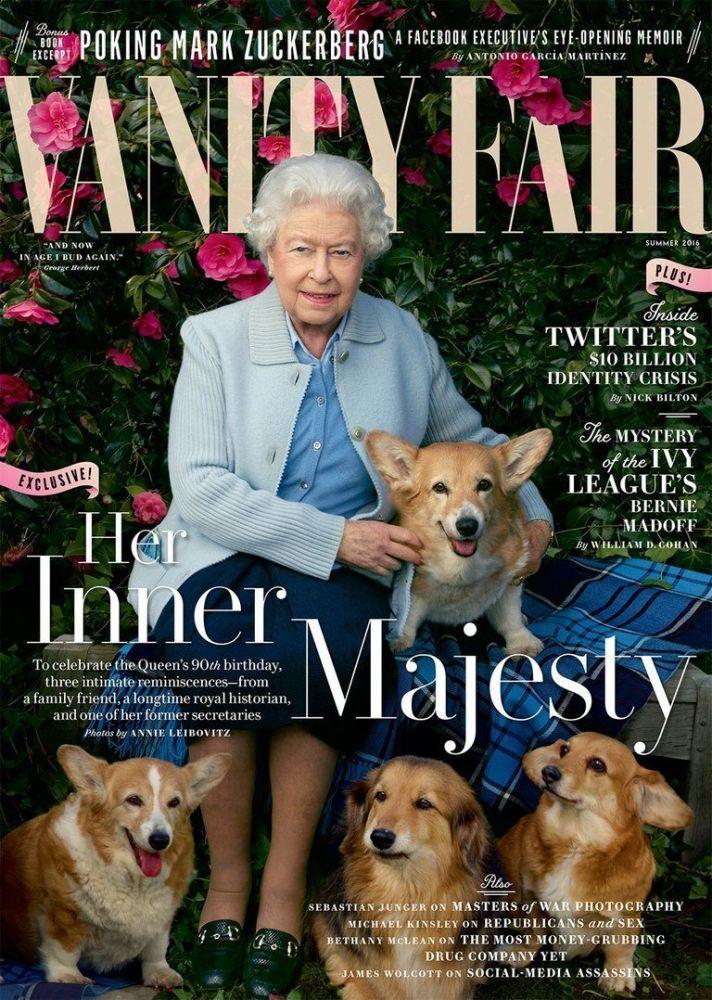 Foto della regina Elisabetta II per i suoi 90 anni nel 2016, di Annie Leibovitz