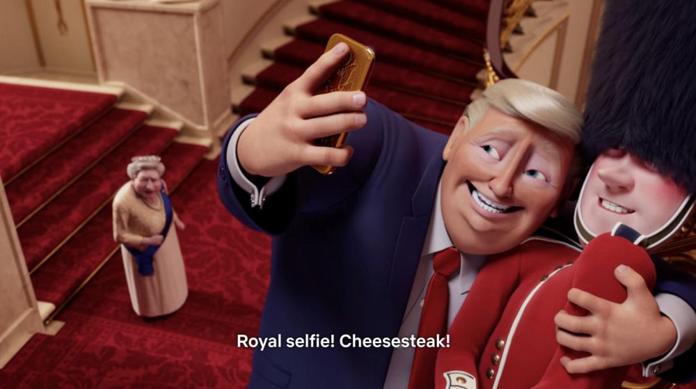 Donald Trump si fa i selfie con la Guardia Reale in The Queen's Corgi