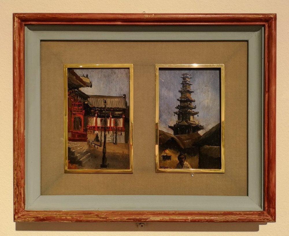Dipinti di Arnold Henry Savage Landor esposti nella mostra temporanea 2020 'Dipingere l'Asia dal vero: vita e opere di Arnold Henry Savage Landor' al MAO Museo d'Arte Orientale di Torino