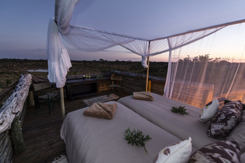 Il campo tendato glamping di lusso Skybeds in Botswana