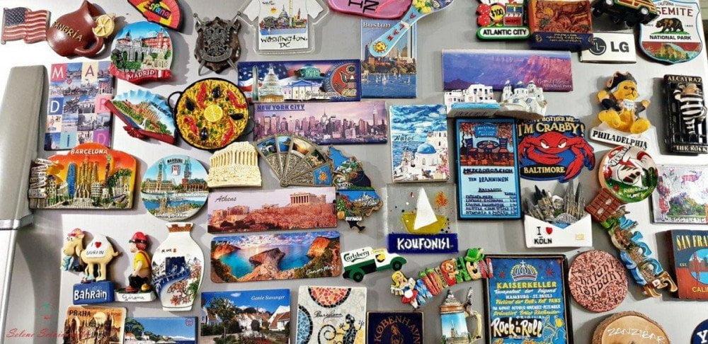 La collezione di calamite, souvenir di Selene del blog Viaggi che mangi