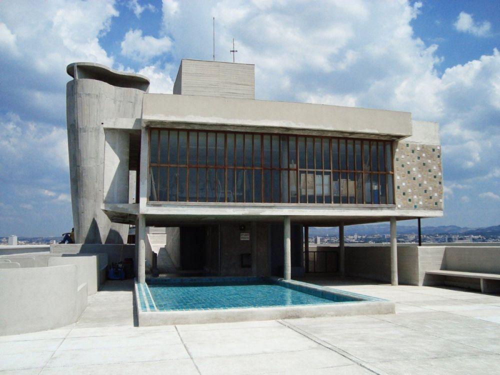 Terrazza dell'Unité d'Habitation di Le Corbusier a Marsiglia