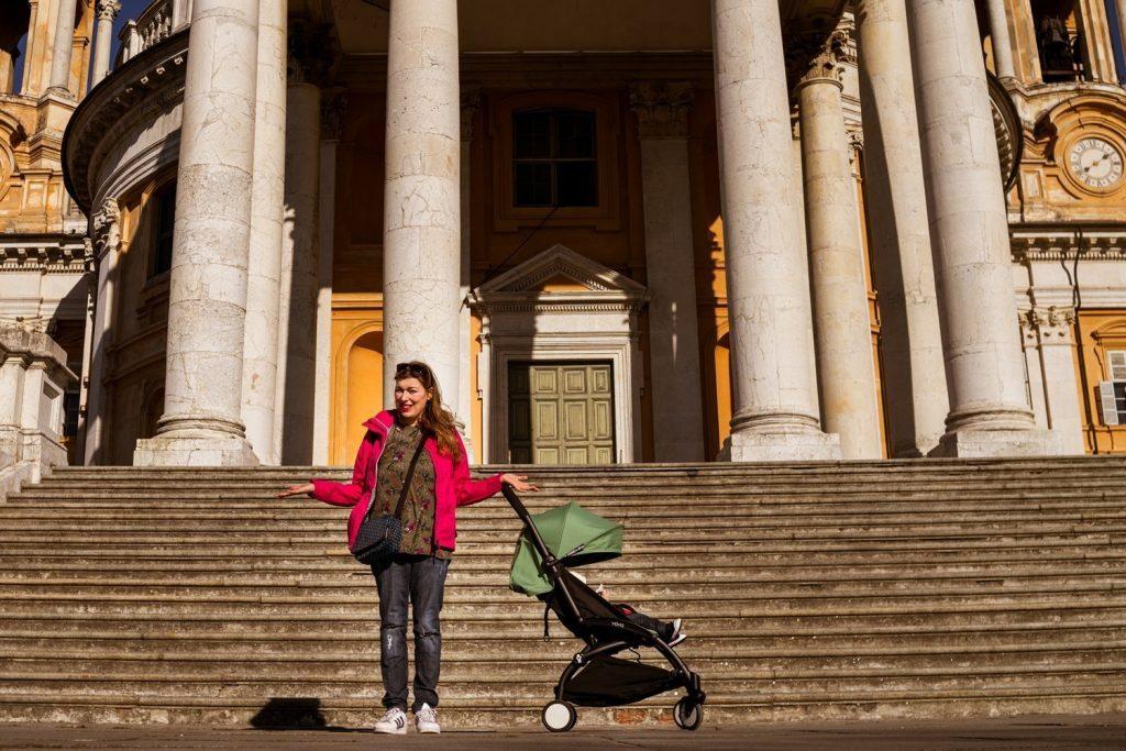 Basilica di Superga a Torino non accessibile con passeggino, foto Virginia Barinaga Ʌir Fotografía