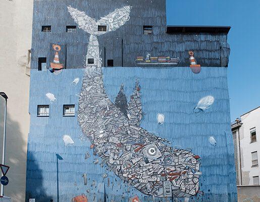 Murales Goal 14: Life Below Water di Mr Fijodor a Torino per il progetto di arte urbana TOward 2030