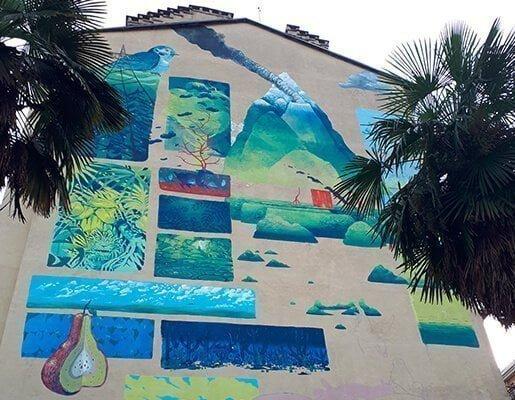 Murales Goal 15: Life on Land di Hitnes a Torino per il progetto di arte urbana TOward 2030