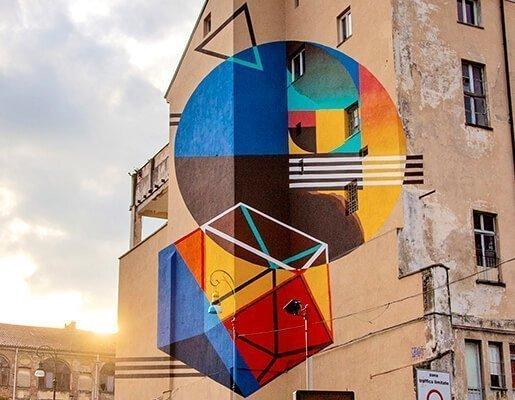 Murales Goal 2: Zero Hunger di Cultus a Torino per il progetto di arte urbana TOward 2030