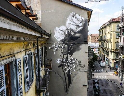 Murales Goal 3: Good Health di Gomez a Torino per il progetto di arte urbana TOward 2030