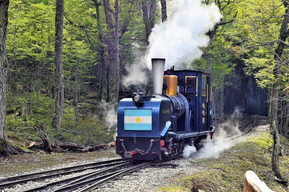Il treno 'Tren del fin del mundo' in Patagonia