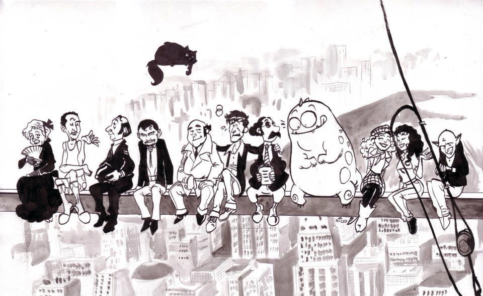 La famosa foto dei lavoratori reinterpretata con i personaggi di Dylan Dog